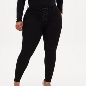 Torrid Bombshell Skinny Lace Front Jeans
